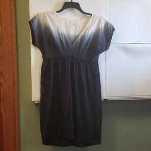 Generra vneck dip dyed cotton elastic waist dress